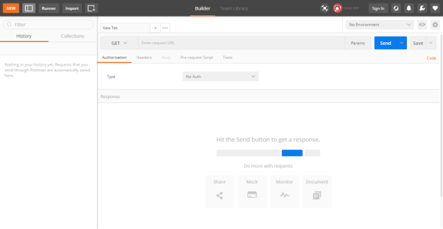 Open a postman tool for testing Rest API requests.