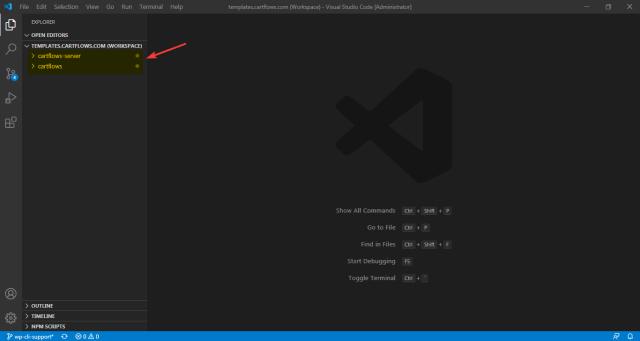 VSCode current workspace