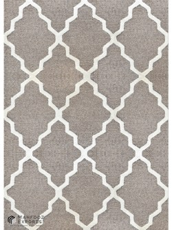 Handtufted Chevron Camel