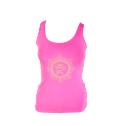 W27 Racerback Braided Back Tank Sacred Om Dry Rose Front Dhs145