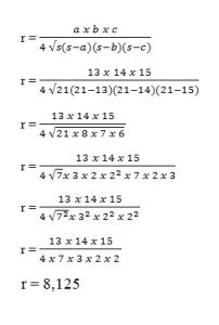 contoh soal lingkaran luar segitiga
