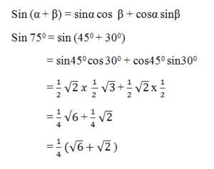 contoh soal rumus jumlah dan selisih dua sudut 1