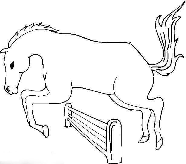 gambar-kuda-untuk-diwarnai