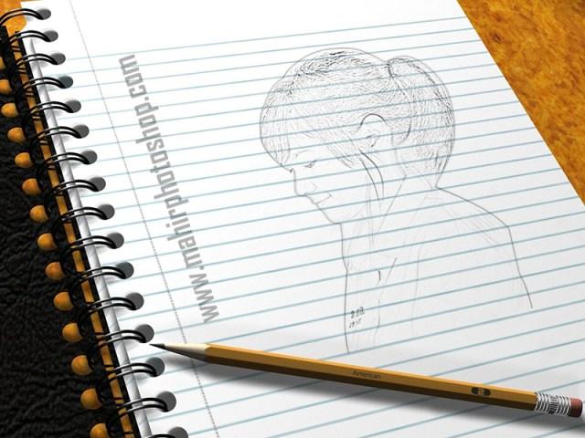sketsa pensil