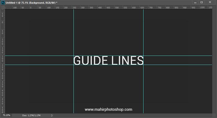 Cara Menghilangkan Guide Line Di Photoshop Mahir Photoshop