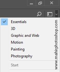 layout workspace photoshop