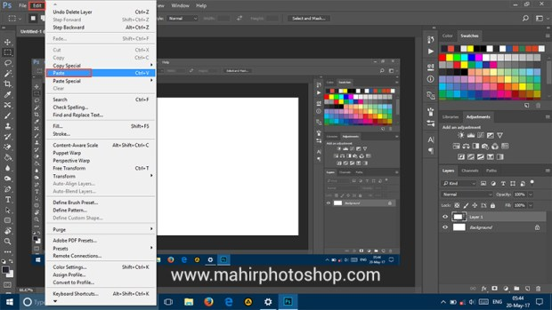 cara screenshot dengan photoshop