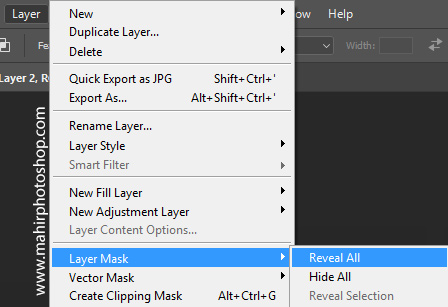 membuat layer mask