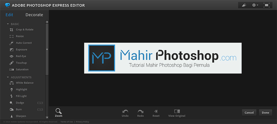 Cara Edit Foto Gratis Dengan Photoshop Online Mahir Photoshop