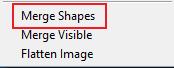 Menggabungkan shapes Merge Shapes