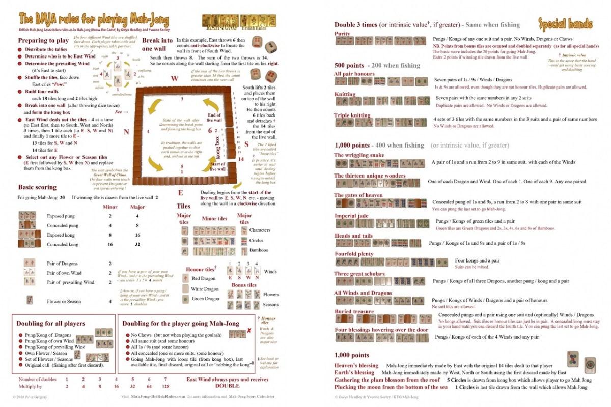 American mah-jongg betting rules bet awards on youtube 2013