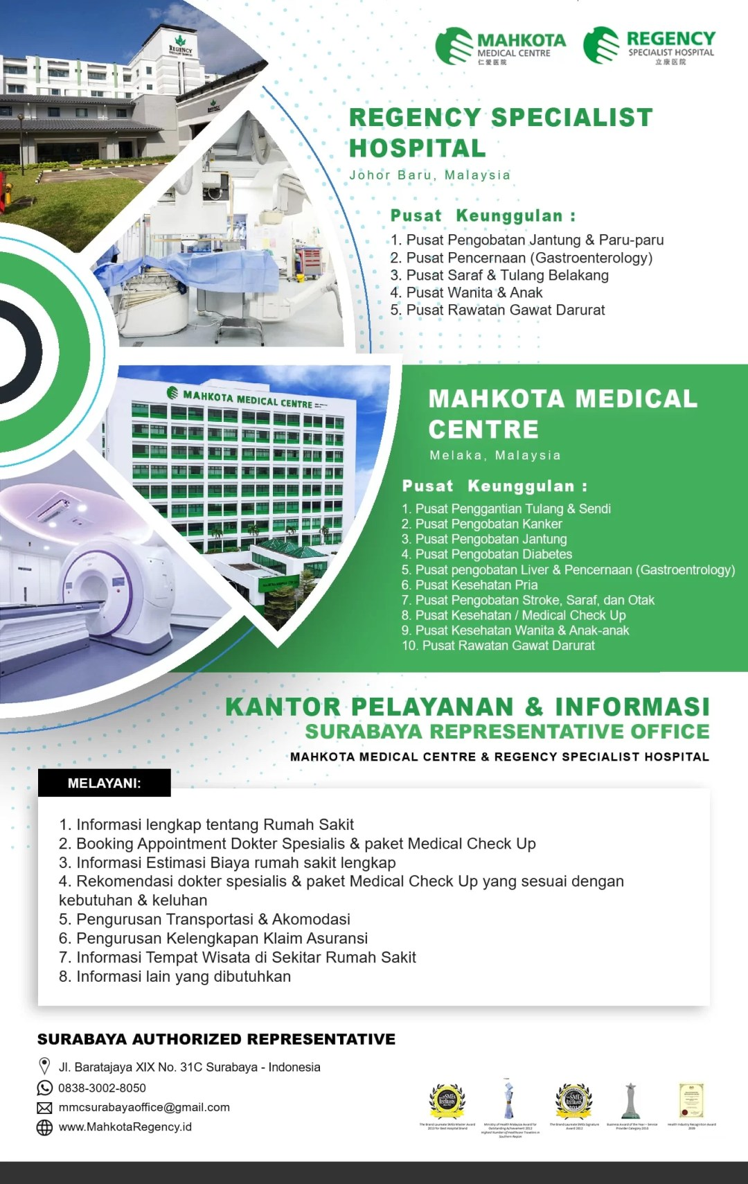 Bantuan Pengaturan Akomodasi GRATIS via Rep Office RS Mahkota - Regency Hospital Malaysia 1
