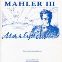 MahlerFest III - 1990 Program Book