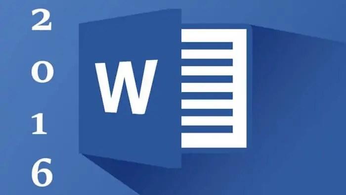 وورد 2016 Microsoft Word