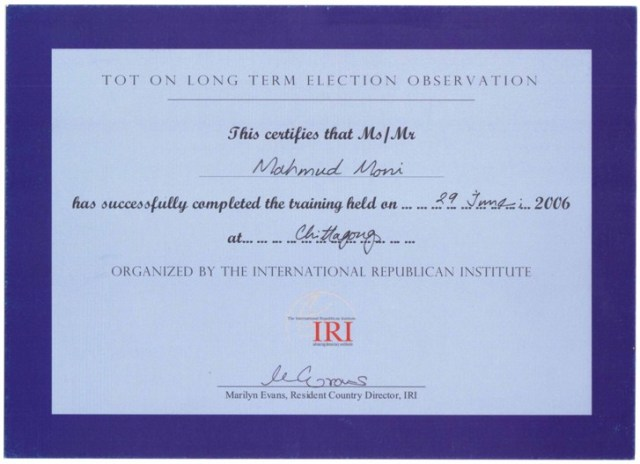 Training for trainers---International Republican Institute (IRI))
