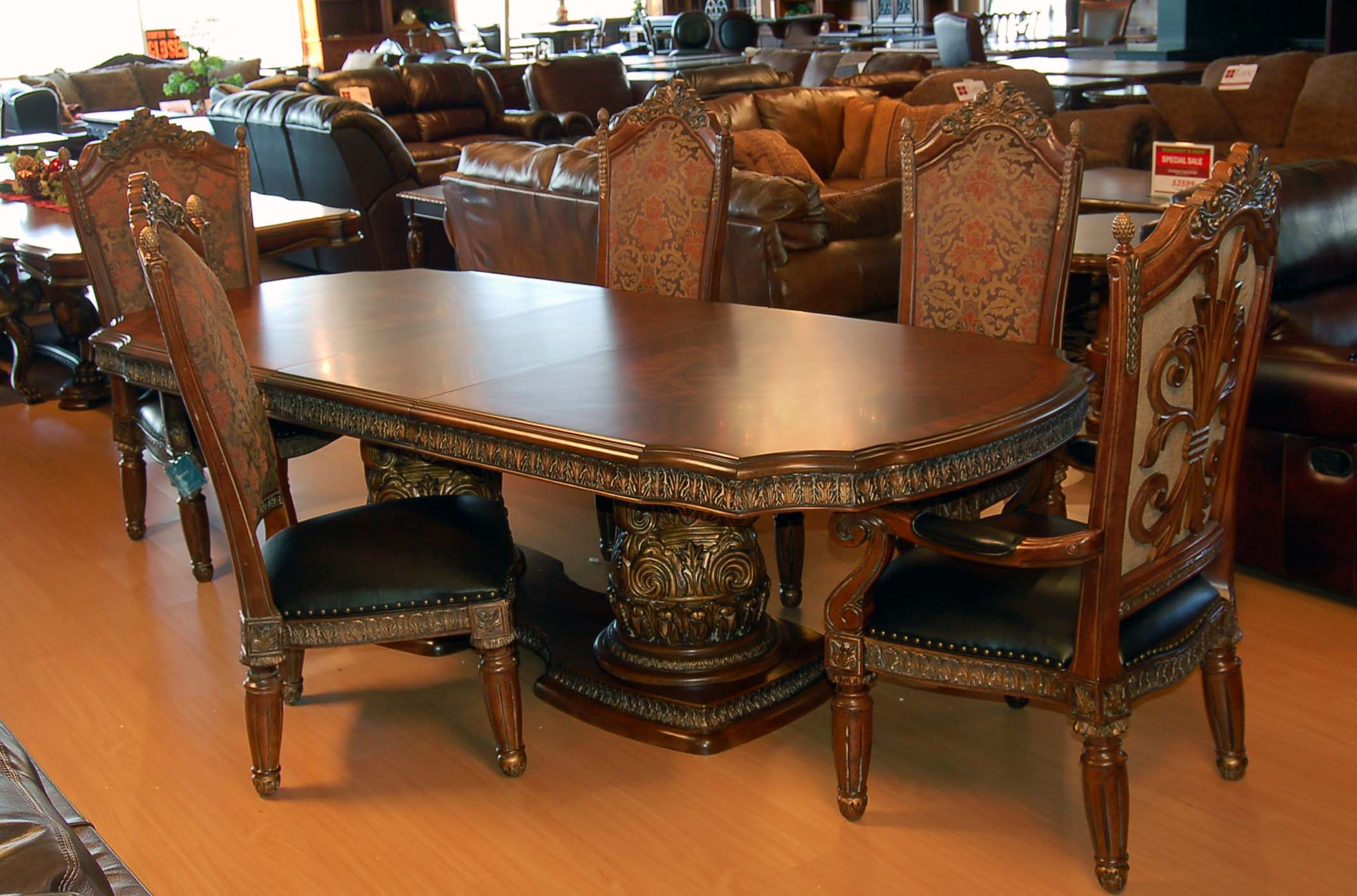 Dining Room Table With Chairs 11 Piece Ornate Carved Dining Table Chair Sideboard And