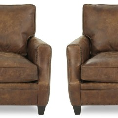 Bernhardt Brown Leather Club Chair Cover Rentals Memphis Pair Of 2 Traditional