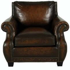 Genuine Leather Chair Kohl Lounge Met Voetenbank Traditional Top Grain Brown Club Ebay