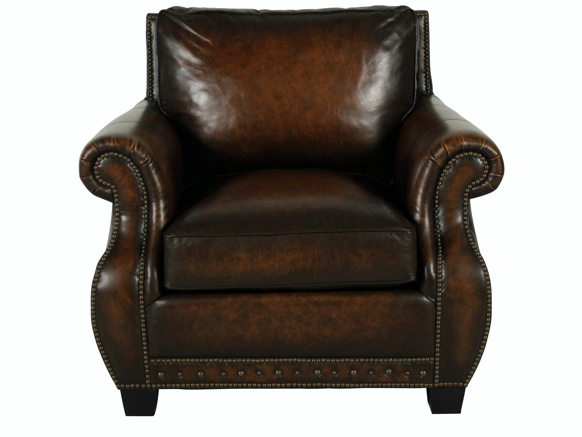 Leather Club Chair Traditional Genuine Top Grain Brown Leather Club Chair Ebay