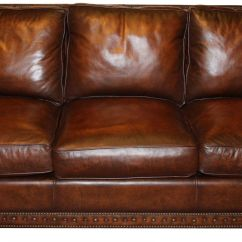 Traditional Leather Sectional Sofas Oxford Sofa Genuine Top Grain Brown Ebay