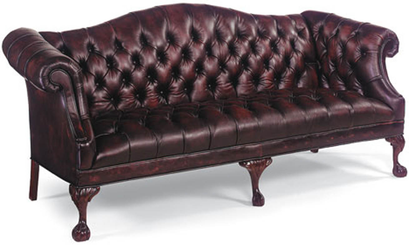 leather sectional sofa tufted table behind against wall burgandy ball and claw ebay