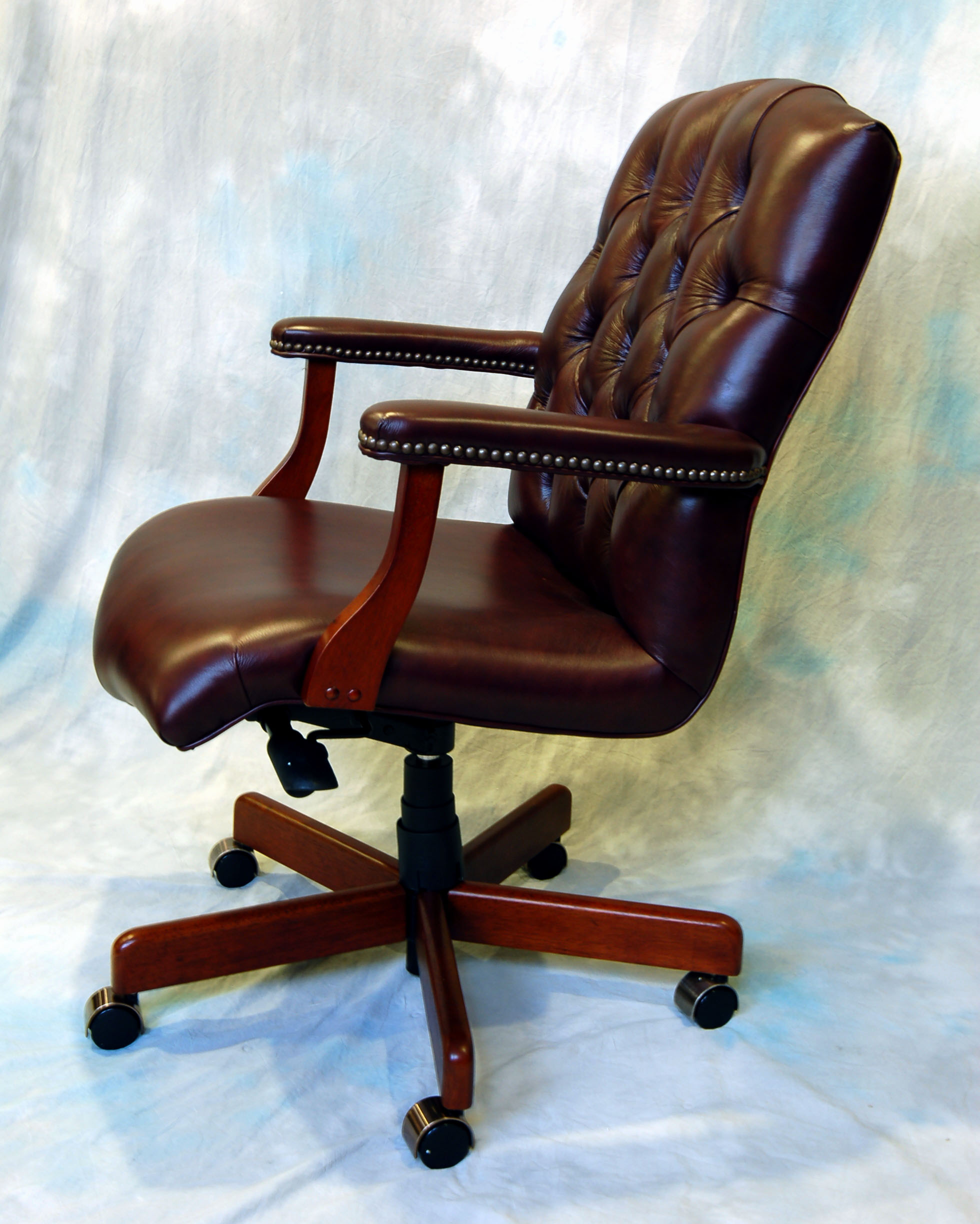 Genuine Leather Office Chair Large Genuine Leather Executive Office Desk Chair Ebay