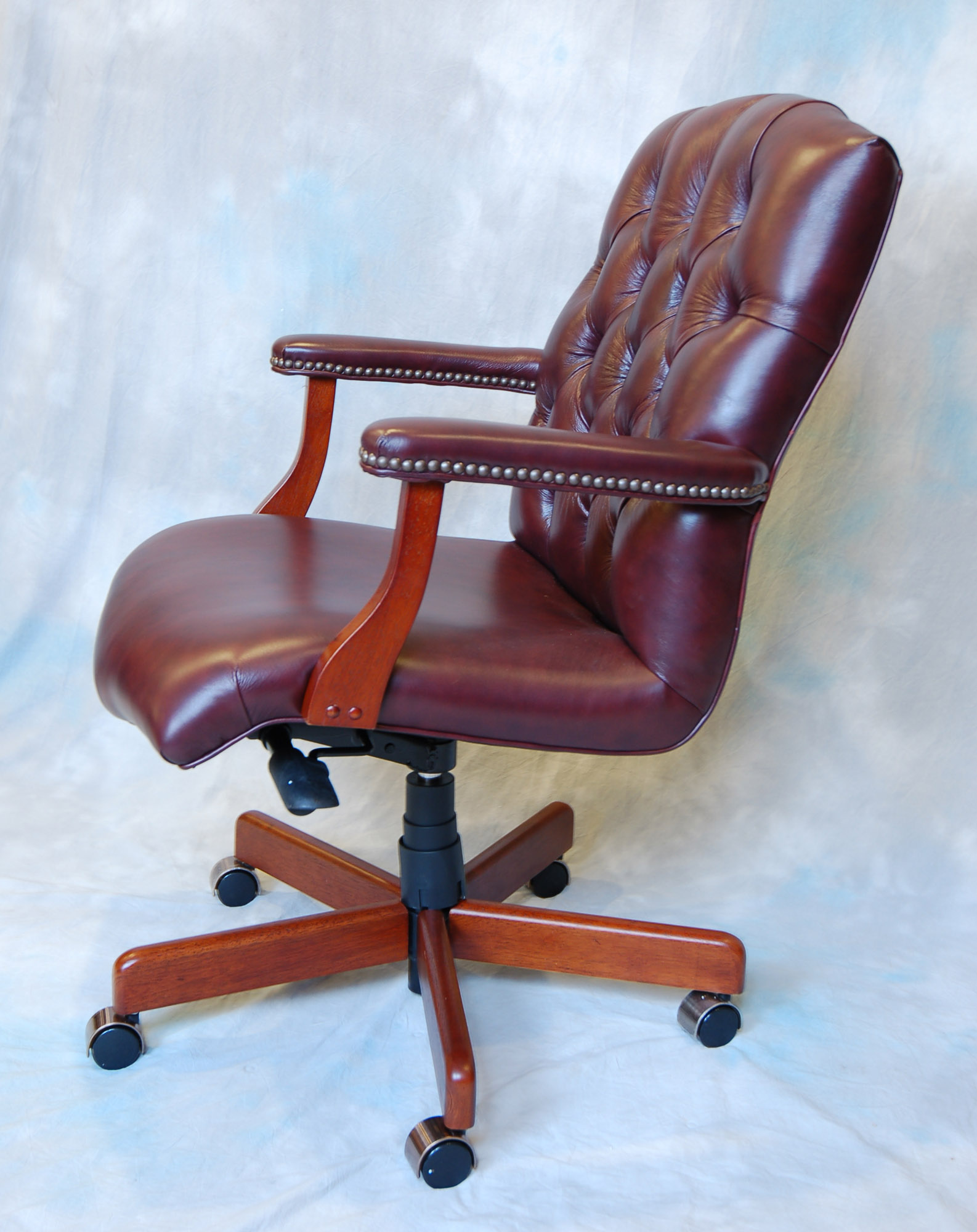genuine leather chair best office for lower back pain large executive desk ebay