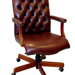 Wooden Executive Office Chairs Racing Car Chair Large Genuine Leather Desk Ebay