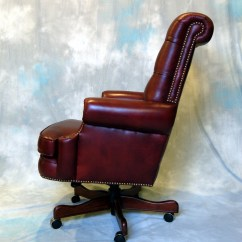Real Leather Chairs Jcpenney Desk Chair Large Genuine Executive Office Ebay