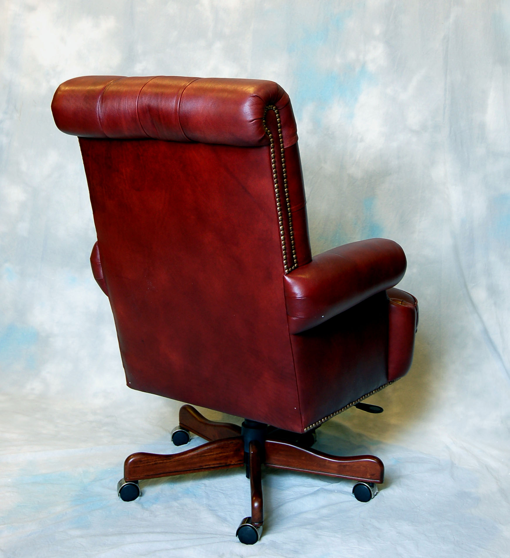 Real Leather Office Chair Large Genuine Leather Executive Office Desk Chair Ebay