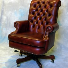 Genuine Leather Chair Pottery Barn Napoleon Large Executive Office Desk Ebay