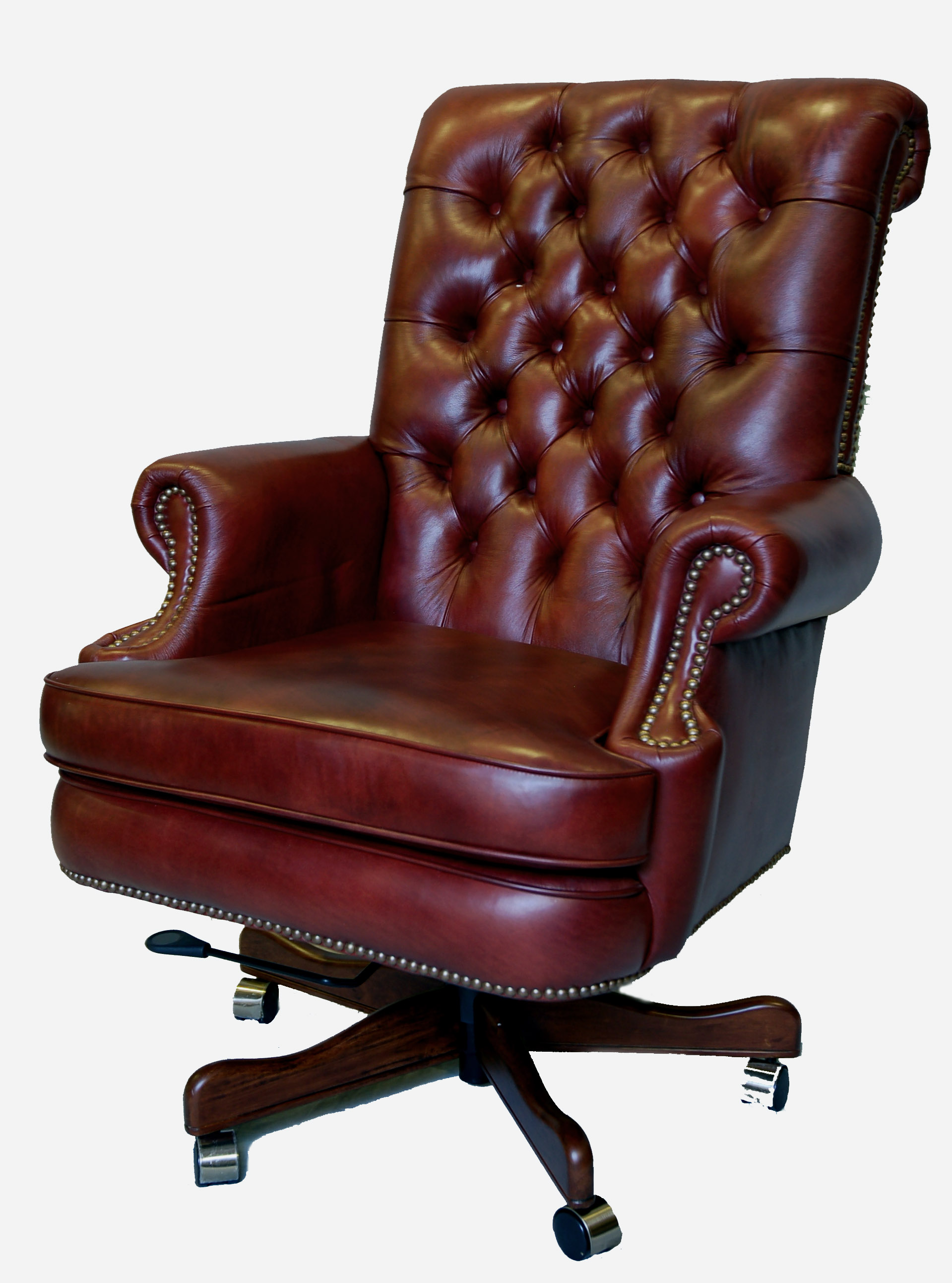 Leather Office Chairs Large Genuine Leather Executive Office Desk Chair Ebay