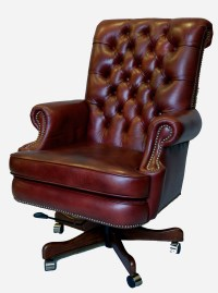 Large Genuine Leather Executive Office Desk Chair | eBay