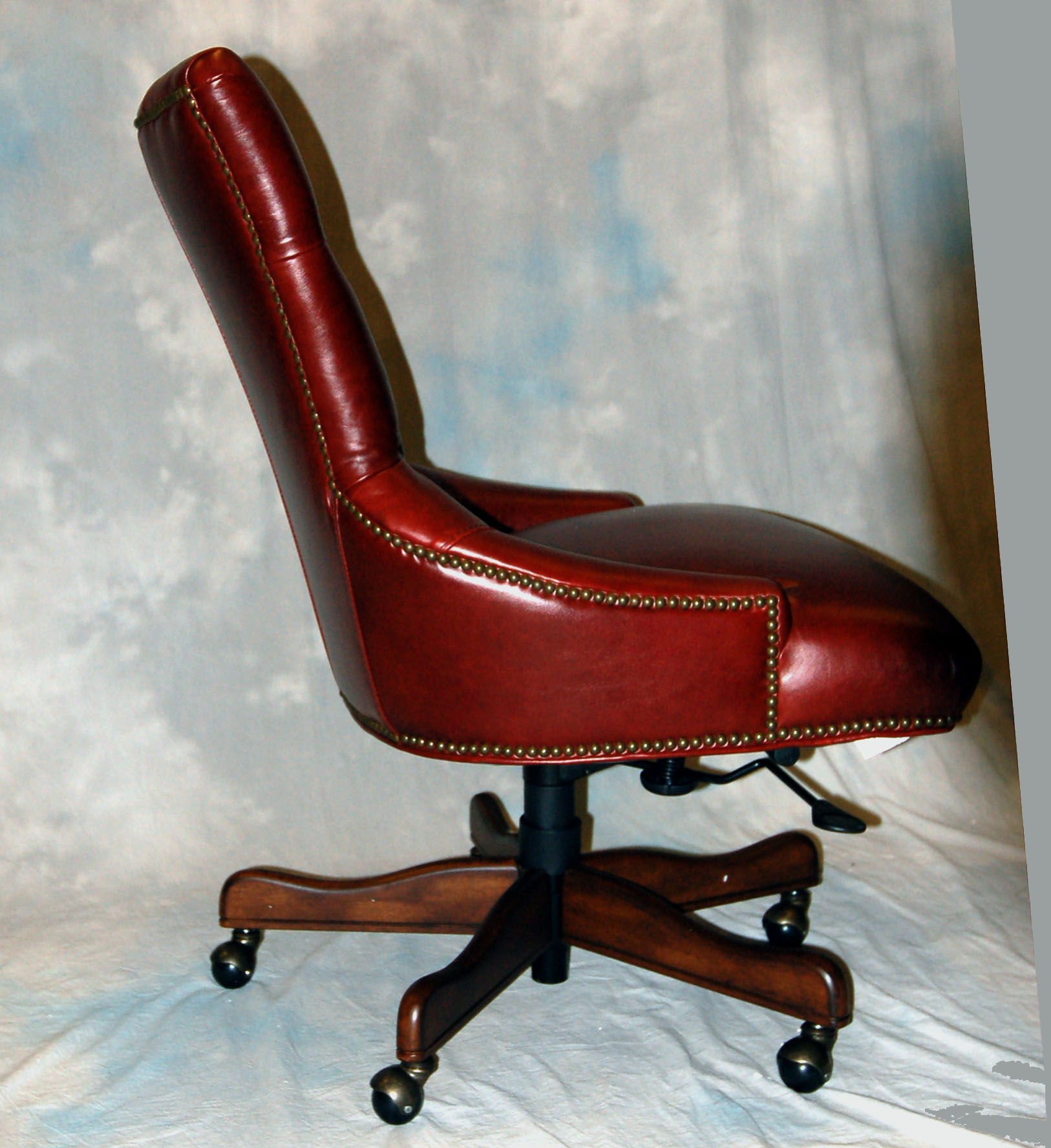 red leather desk chair recliner covers canada executive office ebay