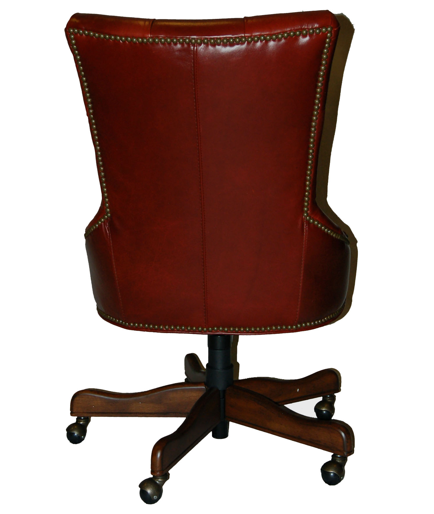 Office Chairs Leather Red Leather Executive Office Desk Chair Ebay