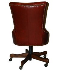 Red Leather Executive Office Desk Chair