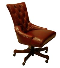 Red Leather Executive Office Desk Chair | eBay