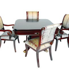 Table And Chairs Set Chair Gym Before After Rosewood Game Four Ebay