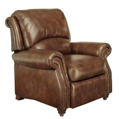 Genuine Leather Chair Bean Bag Covers Amazon Traditional Top Grain Brown Reclining Club