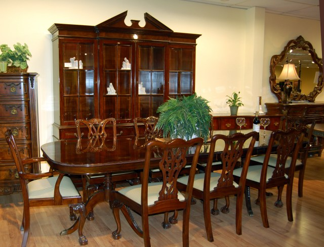 Dining Room Table Set With China Cabinet Cherry