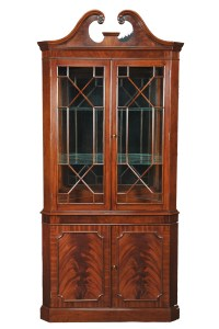 Victorian Mahogany Wood Corner Display China Curio Cabinet ...