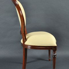 Oval Back Dining Chairs Hanging Chair Canada Indoor Set Of 8 Upholstered Mahogany Wood Classic