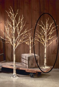 Decorative LED Lighted Natural Birch Tree Branch Accent 27