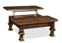 Rustic Cherry Lift-Top Cocktail Coffee Table | eBay