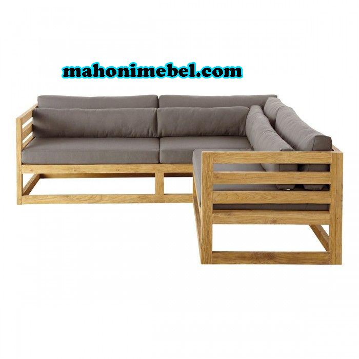 Sofa Tamu Minimalis Jati Belanda Mahoni Mebel Furniture Jepara