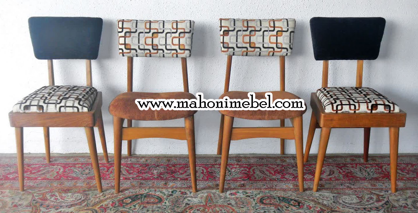 Model Kursi Makan Rertro Vintage Mahoni Mebel Furniture Jepara  # Meuble Retro