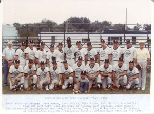 2001-90-250 Old Timers baseball team 1980 with identifications