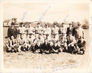2001-90-965 Baseball Team Independent Campbell OH 1926 with few identif