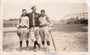96-2-2 Idora Park late 1920s-30s General Tires baseball far right Roy J DePaul