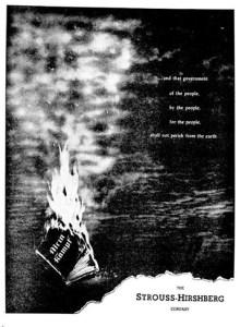 Strouss-Hirshberg ad